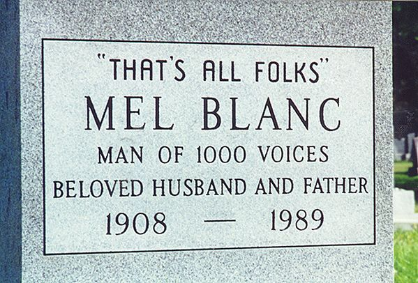 Mel Blanc Closeup